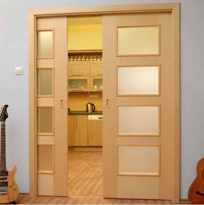Конструкции откатных дверей с пеналом