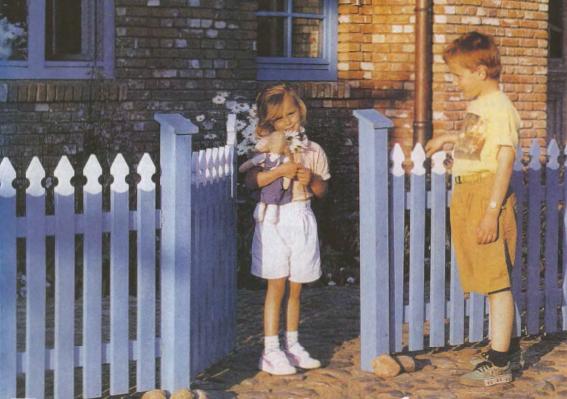 забор из штакетнике