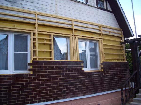 Фасад из клинкерных панелей