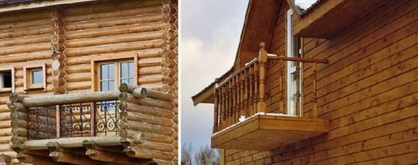 Устройство балкона в деревянном доме