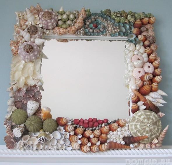 Декор зеркал ванной комнаты