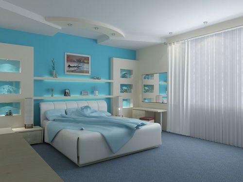 Креативное окрашивание спальной комнаты