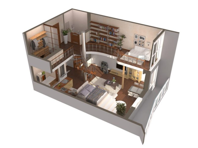 Планировки двухуровневых квартир: дизайн и эргономика
