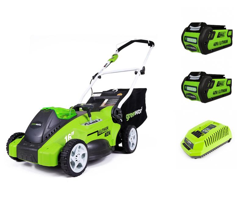 Самоходные аккумуляторные газонокосилки Greenworks