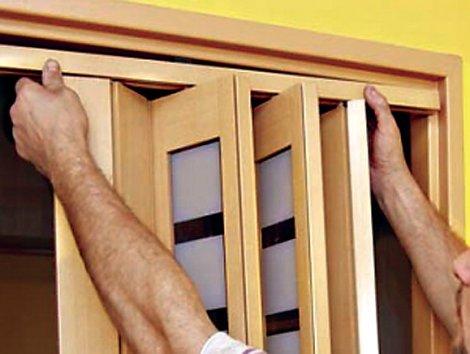 Установка складной двери