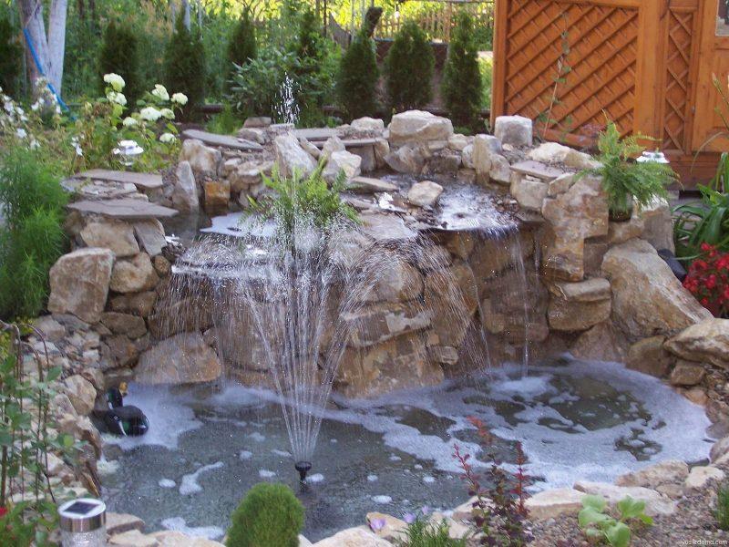 Как своими руками построить декоративный фонтан