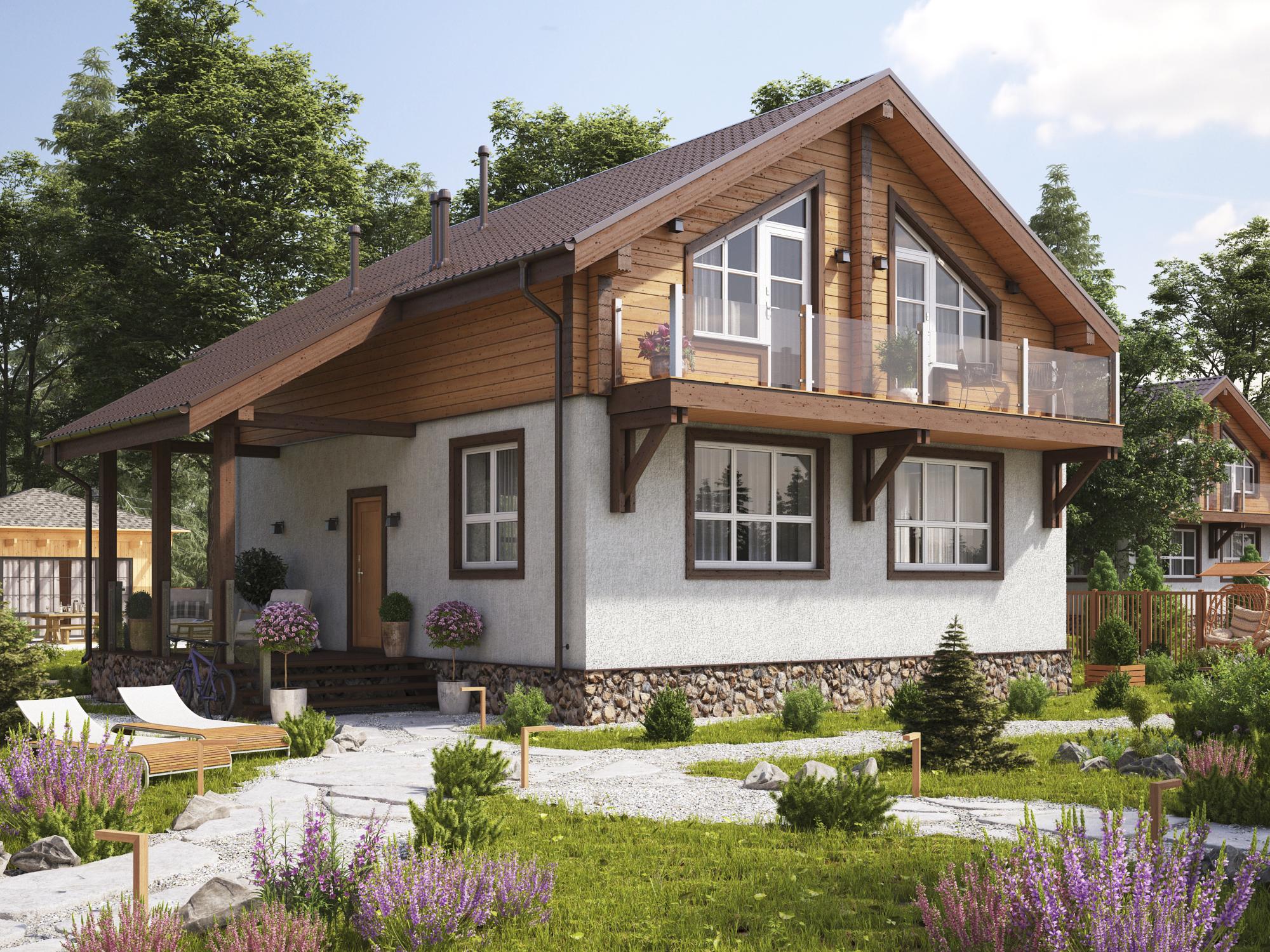 Особенности строительства комбинированных домов