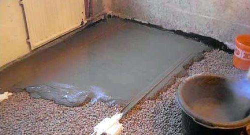 Устройство «мокрой» цементно-песчаной стяжки