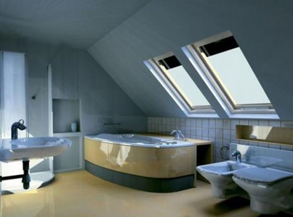 Что нужно для обустройства ванной комнаты в мансарде?