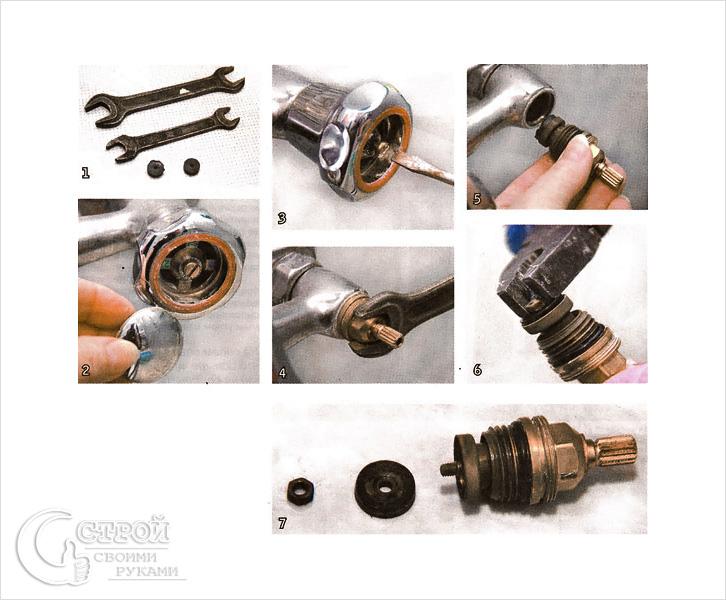 Водопроводный кран: замена прокладки