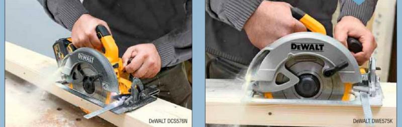 Сравнение аккумуляторной и сетевой дисковых пил DeWALT