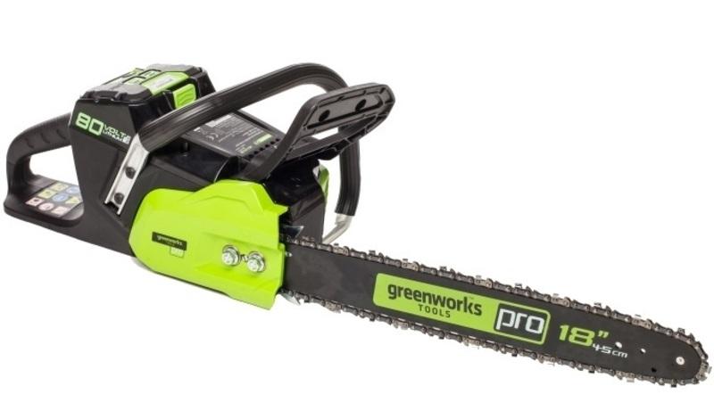 Аккумуляторные цепные пилы Greenworks Tools