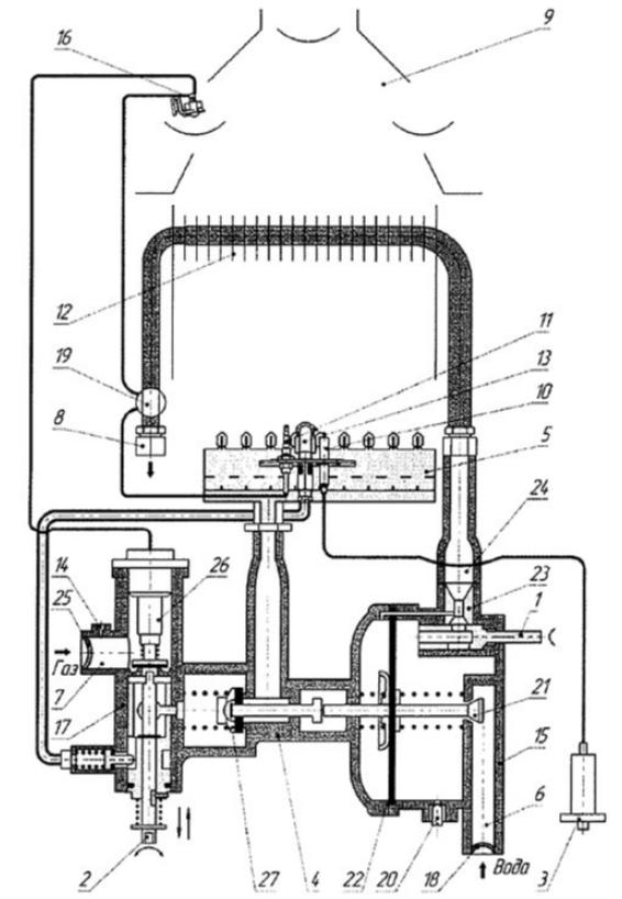 Функциональная схема водонагревателя NEVA 4011