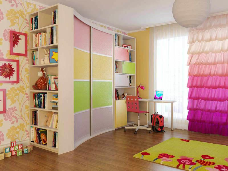 Радиусный шкаф-купе – эстетичная и функциональная деталь интерьера