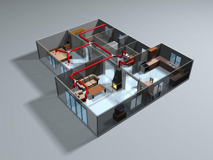 Преимущество системы воздушного отопления помещений