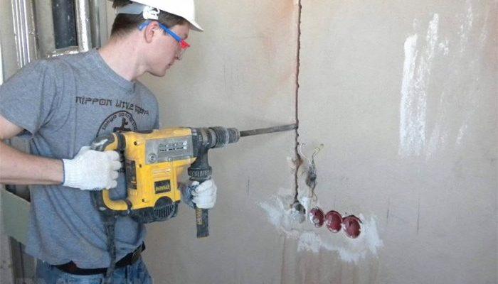 Штробление стен. Этапы и особенности работы