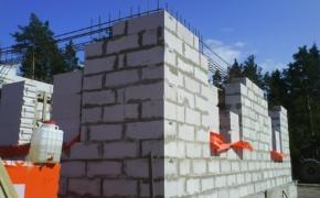 Технология укладки стен из пенобетона